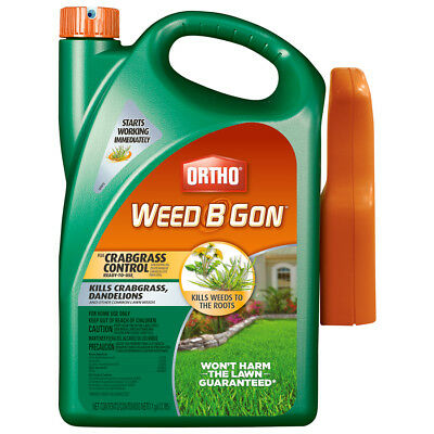 ORTHO Weed B Gon 1-Gallon Weed Killer Plus Crabgrass Control Grass Roots Lawn