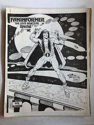 Fan Informer #35 1973 Rare Comic Fanzine Arvell Jones Rich Buckler