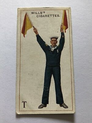 Wills's Air Signalling Series Cigarette Card #20