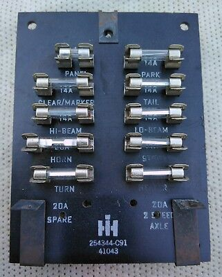 International Harvester 1966-1975 Fuse Panel (254344-C91)