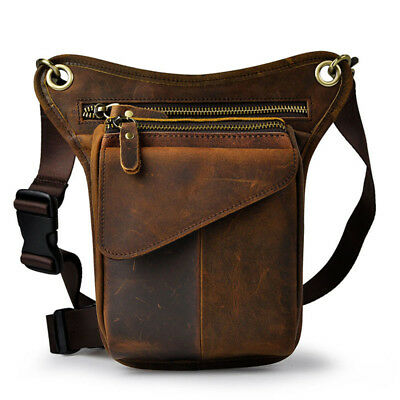 Mororcycle Leather Drop Leg Bag Outdoor Rider Waist Fanny Pack Thigh Hip Pouch