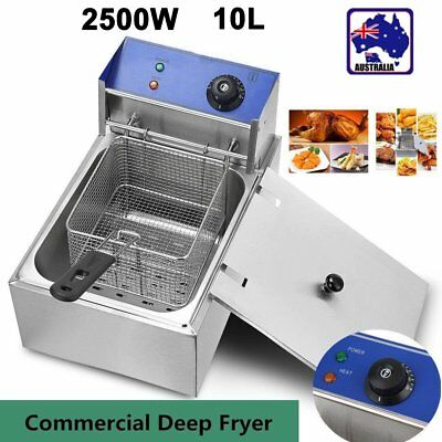 5 Star Chef Commercial Electric Deep Fryer Frying Basket Chip Cooker Fry 10L 0@