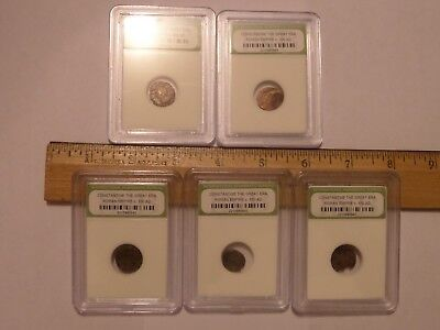 5 Lot Ancient Slabbed Constantine The Great Era Roman Empire Coins C. 330 Ad