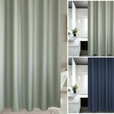 Modern Waterproof Mould Resistant Plain Fabric Shower Curtain Weighted Thicken