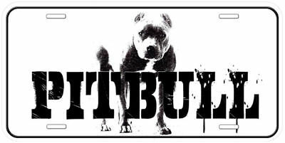 Pitbull Dog Aluminum Novelty Auto Car License Plate