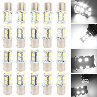 20Pcs Warm White 1156 13-SMD RV Camper Trailer LED Interior Light Bulbs 1141 12V