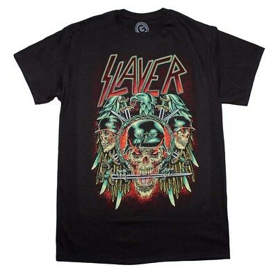 Slayer Eagle Skulls Graphic Tee Rock Metal Music Band Men's Black T-Shirt