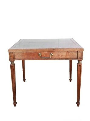Antique Hekman Mahogany burl wood federal side table night stand