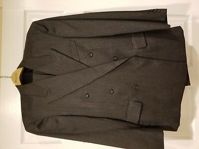 Men's Double Breasted Suit Jacket and Pants - Lot of 2