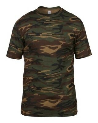 Woodland or Desert Camo Camouflage Paintball or Airsoft T Shirt