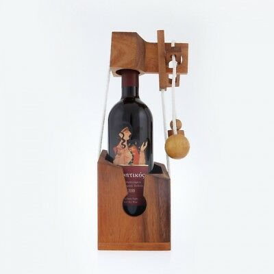 Puzzle Brain Teaser Game Wooden 3D Handmade, Free the Wine Bottle. EliteCrafters