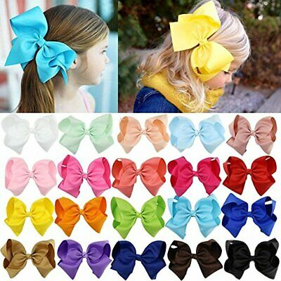 "6"" Hair Bow Clip Jojo Style Girls Teens Kids Toddlers Large School Dance Party"