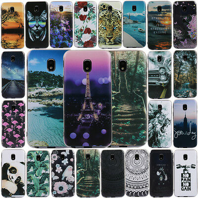 For Samsung Galaxy J3 J5 J7 2017 2016 Painted Slim Soft Silicone TPU Cover Case