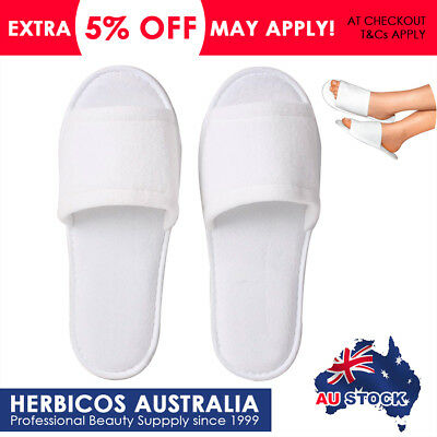 Slippers Disposable Open Toes Cotton Towelling Shoes Salon Hotel Spa Footwear