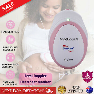 AngelSounds Baby Fetal Doppler Heart Beat Monitor Foetal Heartbeat Detector Mini