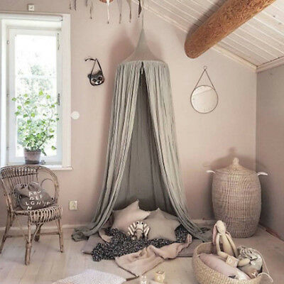 Kid Bedding Round Dome Bed Canopy Bedcover Mosquito Net Curtain Home Crib Tent