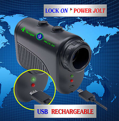 Golf Rangefinder - USB Rechargeable - PowerJolt - No More Batteries!!