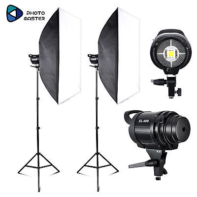 Photo Master 2 *EL-60W Studio Blanc Version LED Light Bowens Mount Stand Trousse