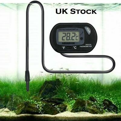 Lcd Digital Fish Aquarium Water Tank Thermometer New Uk Seller