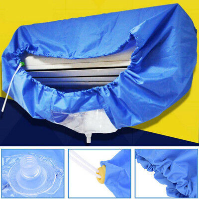 Air Conditioner Cleaning Cover Waterproof Hanging Washable Dust Protector Cover