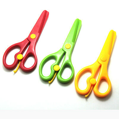 Plastic Safety Scissor Paper Cutting Handmade Toy Arts Drawing Activities Kids
