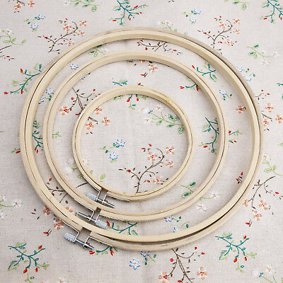 12-25cm Wooden Cross Stitch Machine Embroidery Hoop Ring Bamboo Sewing 5''8''10'