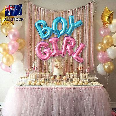 Letter Foil Helium Balloons Inflatable Boy Girl Baby Shower Birthday Party Decor