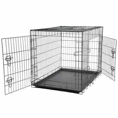 Bunty Metal Dog Cage Crate Bed Portable Pet Puppy Training Travel Carrier Basket