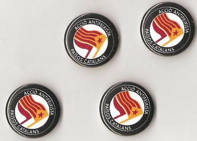 1x Accio Antifeixista Paisos Catalans Button RASH Catalunya Antifa Punk Oi SHARP