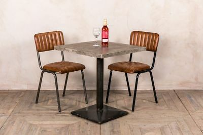 Cafe Table Concrete Top Industrial Style Bar Pub Restaurant Metal Base Compact
