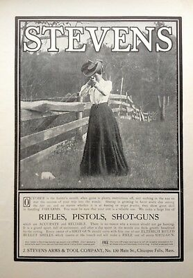 1902 Ad(G23)~J. Stevens Arms & Tool Co. Chicopee Falls, Mass. Rifles And Pistols
