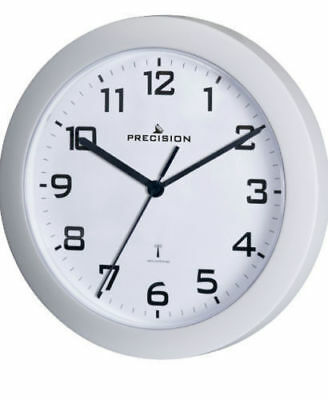 Precision PREC0062 Radio Controlled Analogue Wall Clock White