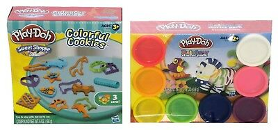 Play-Doh Rainbow Starter Pack PLUS Play-Doh Colourful Cookies Bundle