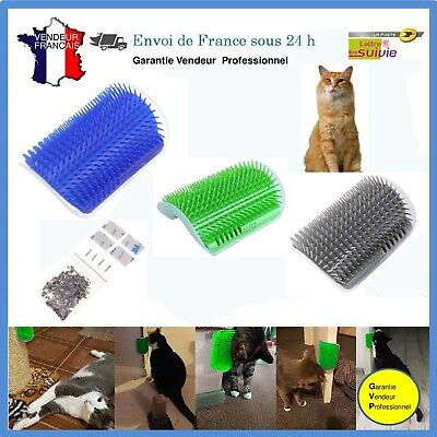 Station de Massage d'Angle Chat Chatons  Grattoir de coin anti-poils Griffoir