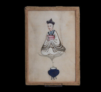China 19. Jh. Qing Malerei - An unusual Chinese 'rice paper' painting - Chinois