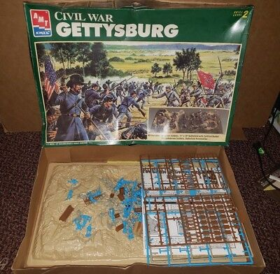 AMT ERTL Civil War: Gettysburg Model Kit Diorama 1:72 Scale 1994