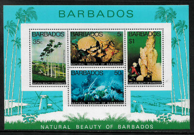 Barbados #458a Mint Never Hinged S/Sheet - Underwater Park