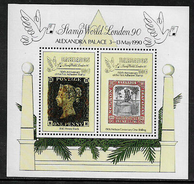 Barbados #781 Mint Never Hinged S/Sheet - Stamp World London '90
