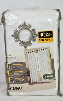 Insola™ Odyssey 108-Inch Insulating Window Curtain Panel in White