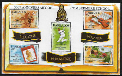Barbados #900 Mint Never Hinged S/Sheet - Combermere School