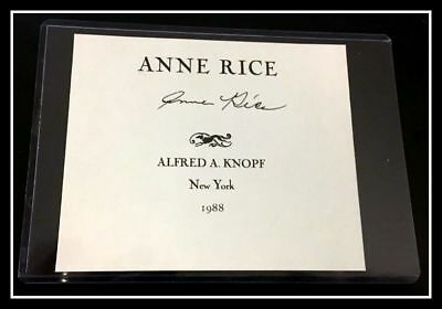 AUTOGRAPHED HAND SIGNED by Anne Rice (1988) Signature COA FREE SHIP