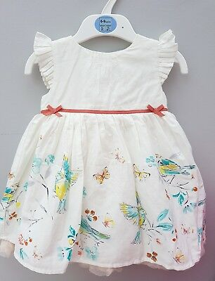 New Ex M&S Baby Girl's Dress Autograph Bird.  3 6 9 12 18 24m. RRP £24