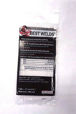 "Best Welds MAGnifier Cheater Lens 2.50 Focal Power 2"" X 4-1/4"" MP-2-2.50"