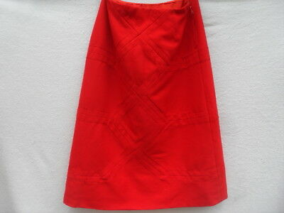 VINTAGE 1970s/80s RED A-LINE SKIRT