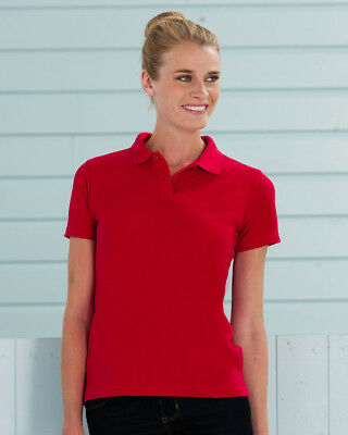 Russell Ladies Polo Shirt Classic Fit Smart Collar Workwear Plain Top Colours
