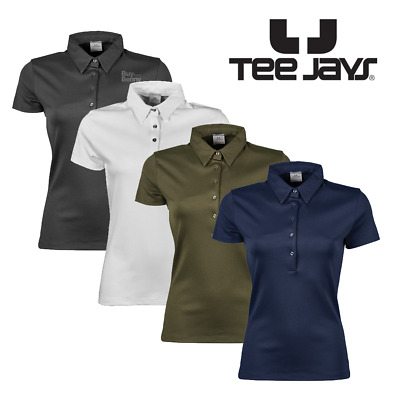 Tee Jays Ladies Polo Shirt 100% Soft Cotton Top Smart Tailored Fit Women's S-2Xl