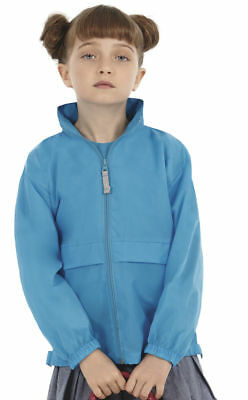B&C Children's Lightweight Jacket Windbreaker Concealed Hood Colours Boys Girls