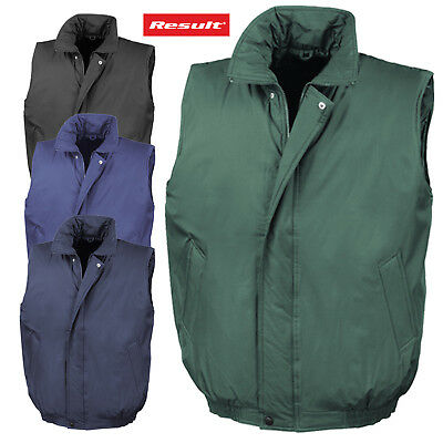 Result Padded Bodywarmer Water Repellent Zipped Gilet Insulated Windproof Men's