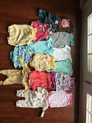 3-6 months baby girl clothes Summer Lot Of 14