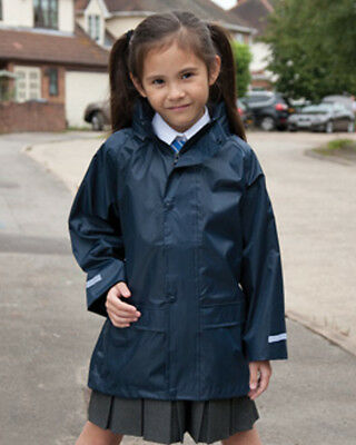 Result Kids Rain Jacket Coat Waterproof Windproof Hooded Children's Boys Girls